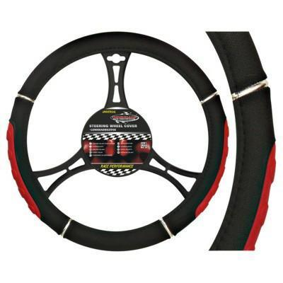 Potah na volant SPEED black/red